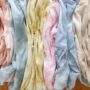 NEW Fall Tie dyed Sweatshirts Tops Warm Shirt S-3X